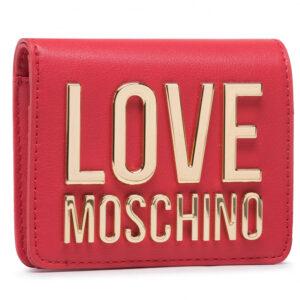 Portafoglio rosso con logo Love Moschino