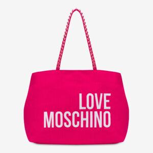 Shopper in canvas fucsia Love Moschino