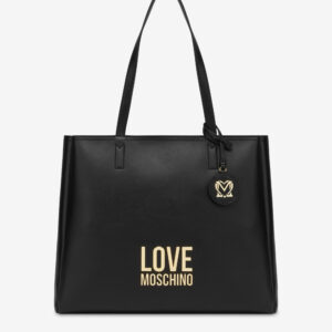 Shopper logo gold Love Moschino