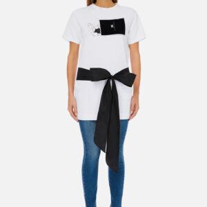 T-shirt con fiocco Elisabetta Franchi