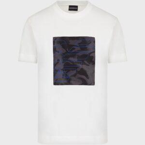 T-shirt bianca camouflage Emporio Armani