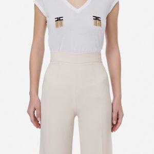 T-shirt bianca Elisabetta Franchi