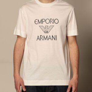 T-shirt bianca logo Emporio Armani