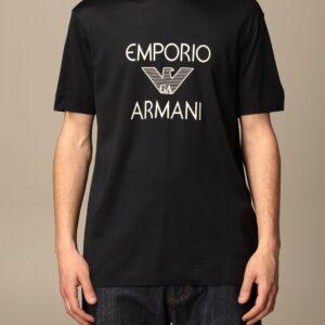 T-shirt blu logo Emporio Armani