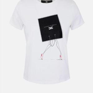 T-shirt con stampa Elisabetta Franchi
