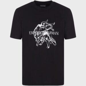 T-shirt stampa toro Emporio Armani